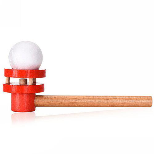 Discount Early Childhood Education Traditional Wooden Blowing Ball Toy