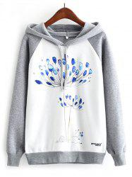 K274 Watercolor Dandelion Print Women's Hoodies -