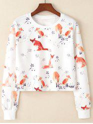 Round Neck Women's Long-sleeved Short Fashion Hoodie -