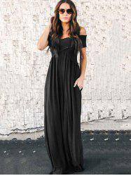 Fashion Wrapped Chest Long Dress -