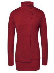 Fashion High Neck Pullover Women's Sweater -