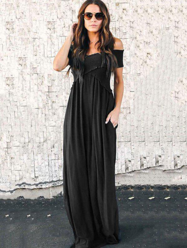 Latest Fashion Wrapped Chest Long Dress