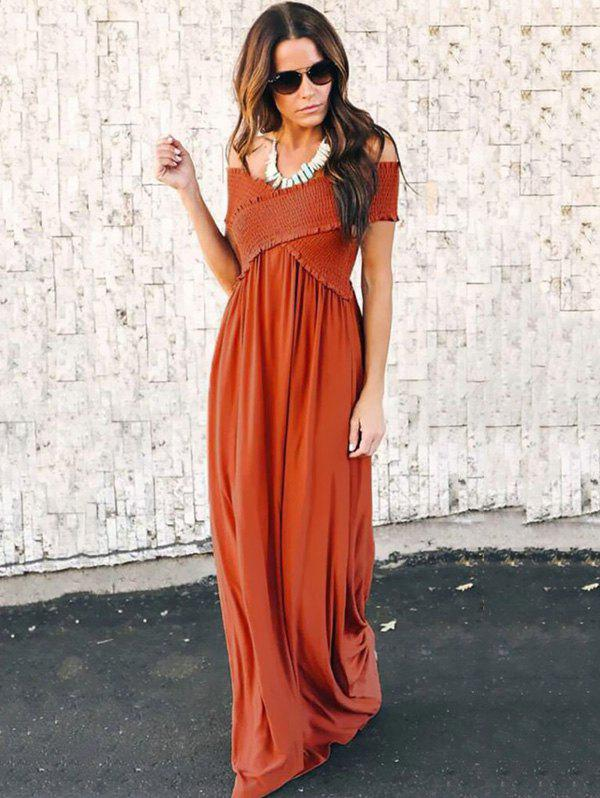Trendy Fashion Wrapped Chest Long Dress
