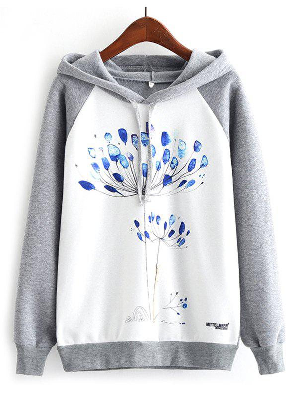 Store K274 Watercolor Dandelion Print Women's Hoodies
