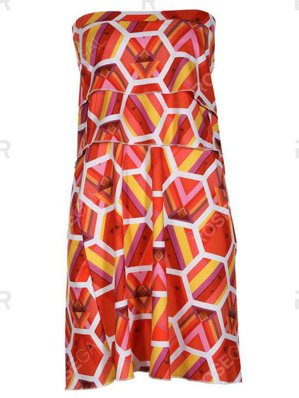 Outfit Printed Chest Simple Dress