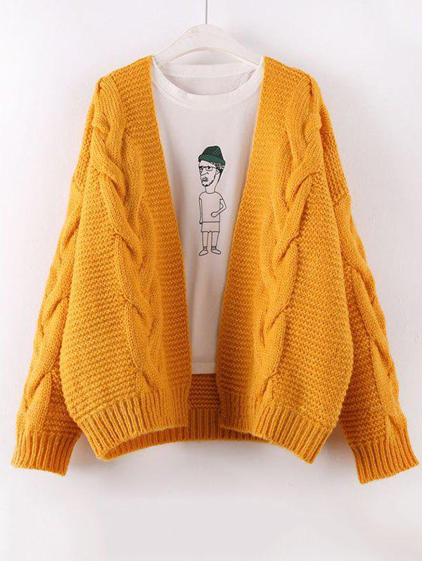 Shops Solid Color Knit Cardigan Thick Sweater