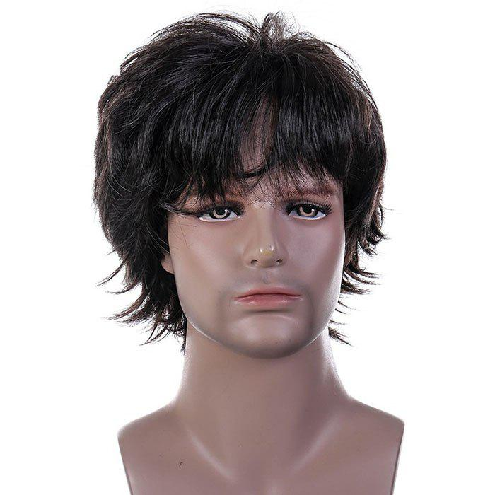 Fashion Middle-aged Men s Fluffy Wig 007689974875