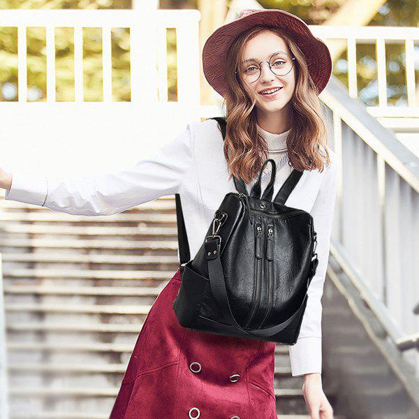 Outfits Leather Backpack Dual Use High-end Quality European Fashion Bag