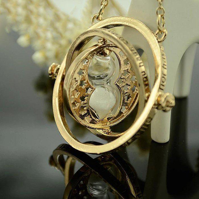 Hot Accessories Time Converter Hourglass Necklace Quick Harry Potter Jewelry