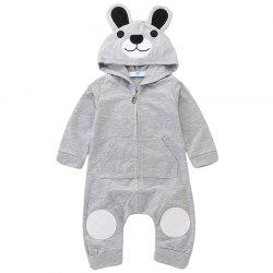 TZY20569 Children's Cute Bear Embroidery Romper -