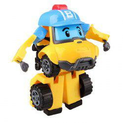 Children's Manual Toys Puzzle Deformation Police Car Robot -