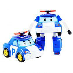 Children's Puzzle Deformation Police Car Robot Educational Toy -