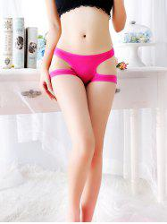 Women's Comfortable Low Waist Hollow Cute Underwear Briefs Panties -