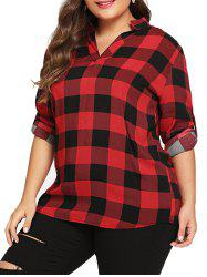 Large Size Plus Cardigan Long Sleeve Shirt -