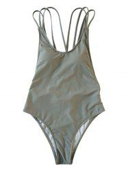 Lady Behind The Cross Strap Body Shaping Sexy Swimsuit -