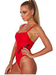 Printed Shoulder Strap Sexy Ladies One-piece Swimsuit -