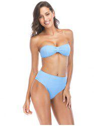 Pit Bikini Split High Waist Sexy Wrapped Halter Swimsuit Bathing Suit -