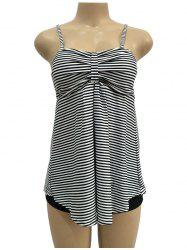 Sexy Print Ladies Swimwear Striped Tube Top Bikini -