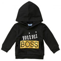 TZY BOSS Boys Cotton Personalized Letter Hot Stamping Hoodies -