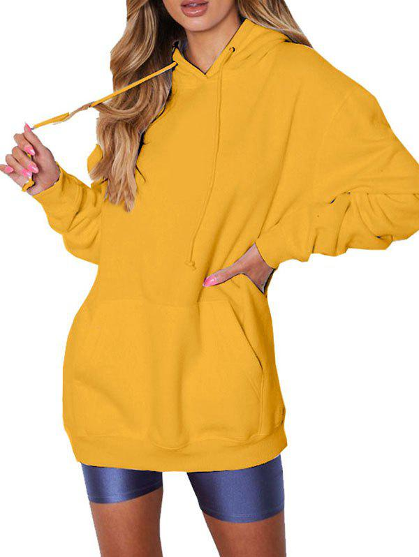 Best FC430 Women's Solid Color Casual Hoodie