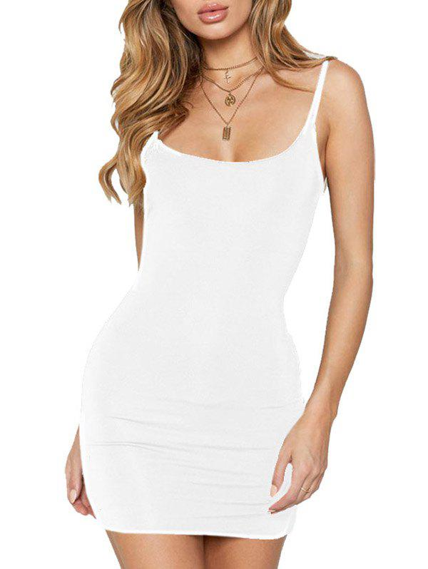 Outfit FC431 Women's Solid Color Halter Bottoming Sexy Dress