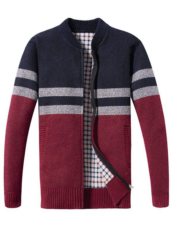 Outfit Spring Blocking Color Stitching Men's Sweater