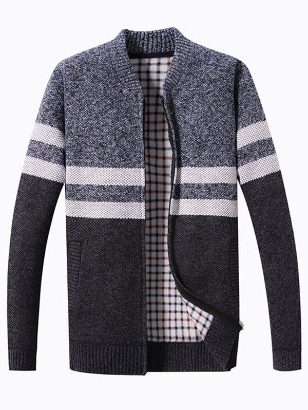 Sale Spring Blocking Color Stitching Men's Sweater
