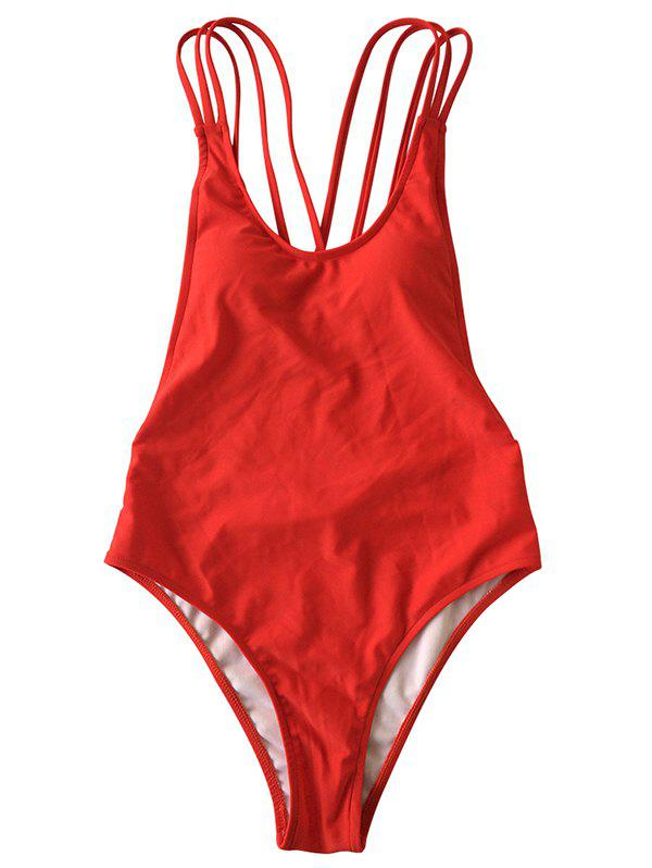 Buy Lady Behind The Cross Strap Body Shaping Sexy Swimsuit
