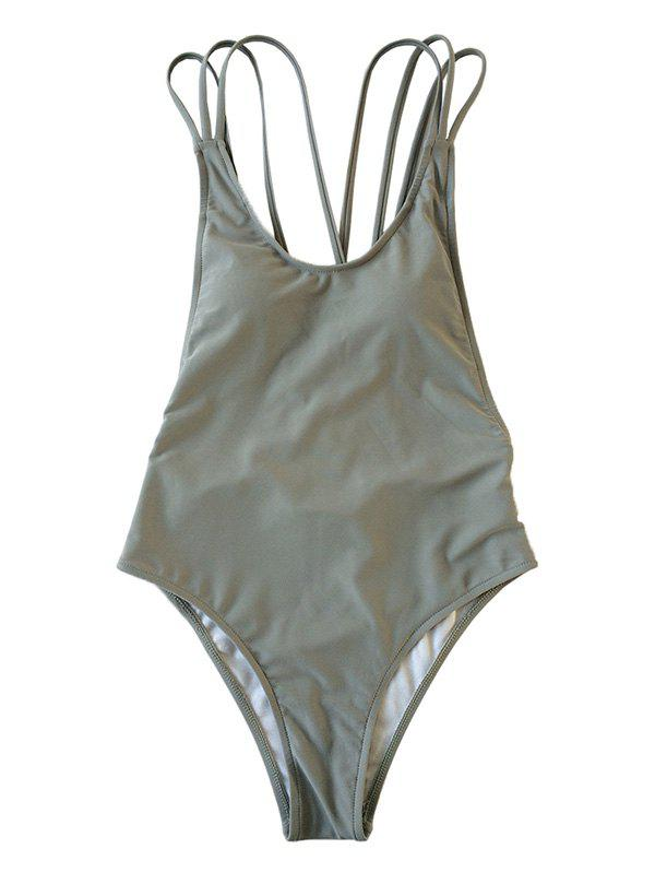 Outfits Lady Behind The Cross Strap Body Shaping Sexy Swimsuit