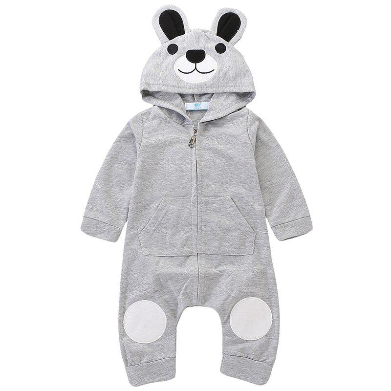 Affordable TZY20569 Children's Cute Bear Embroidery Romper