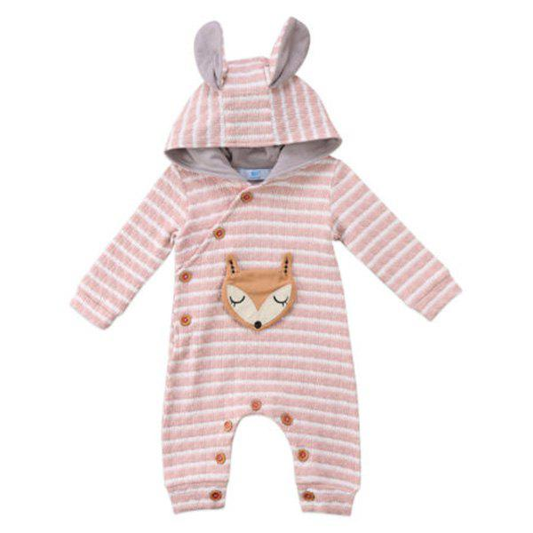 Buy TZY20996 Baby Girl Boutique Striped Fox Embroidery Romper