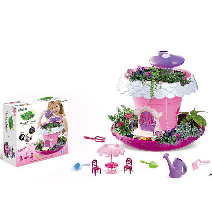 Online Fairy Garden Huts With Light Music Planting Pots Magic Cottage Play House Toys