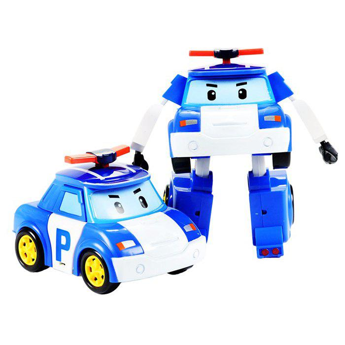 Hot Children's Puzzle Deformation Police Car Robot Educational Toy