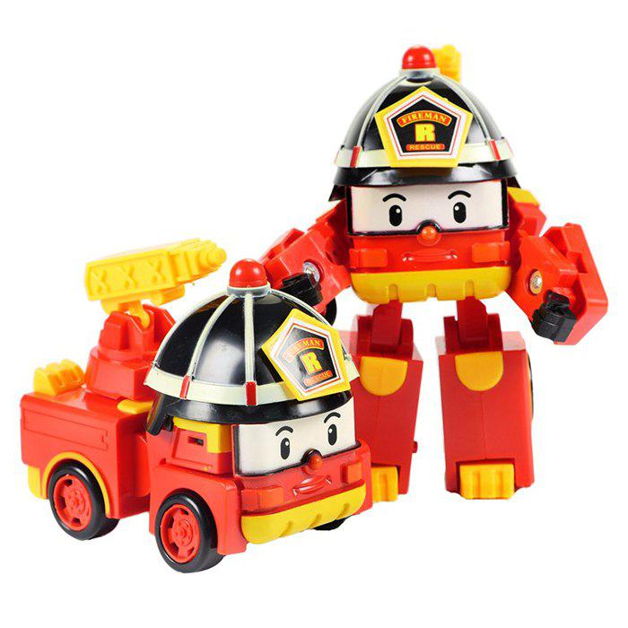 Latest Children's Puzzle Deformation Police Car Robot Educational Toy