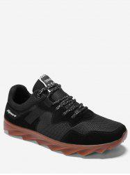 Suede Trim Breathable Athletic Sneakers -