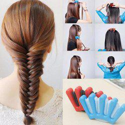 Girls DIY Sponge Hair Braider Plait Twist Braiding Tool 1pc -