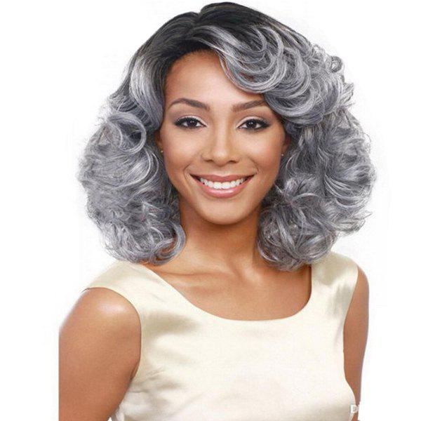 Outfits SYJF 25 Silver Grey Women's Long Hair Curly Wig