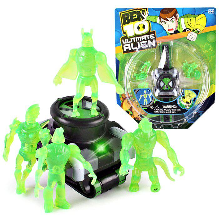 Outfit Small Class Hacker Earth Defender Children Cartoon Projection Watch
