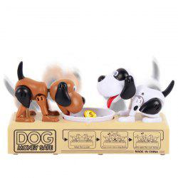 Double Hungry Dog Piggy Bank Coin Eating Munching Toy Creative Money Banks -