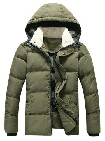 Hooded Zip Up Puffer Quilted Coat
