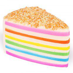 14 - P4212 - J01.4.24 High Simulation Toy Slow Rebound Scented Rainbow Triangle Cake -