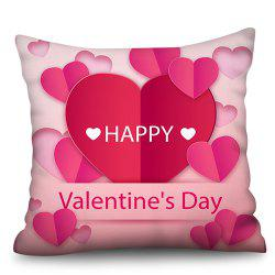 Valentine Day Series Polyester Faux Linen Digital Printing Hug Pillowcase -