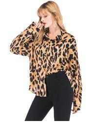 Women's Blouse Leopard Fashion Wild Long Sleeve -