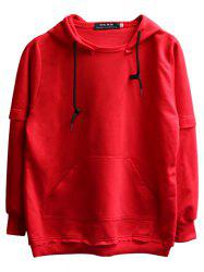 chaolongjushang GH - 8819 Spring Hooded Solid Color Hoodies -