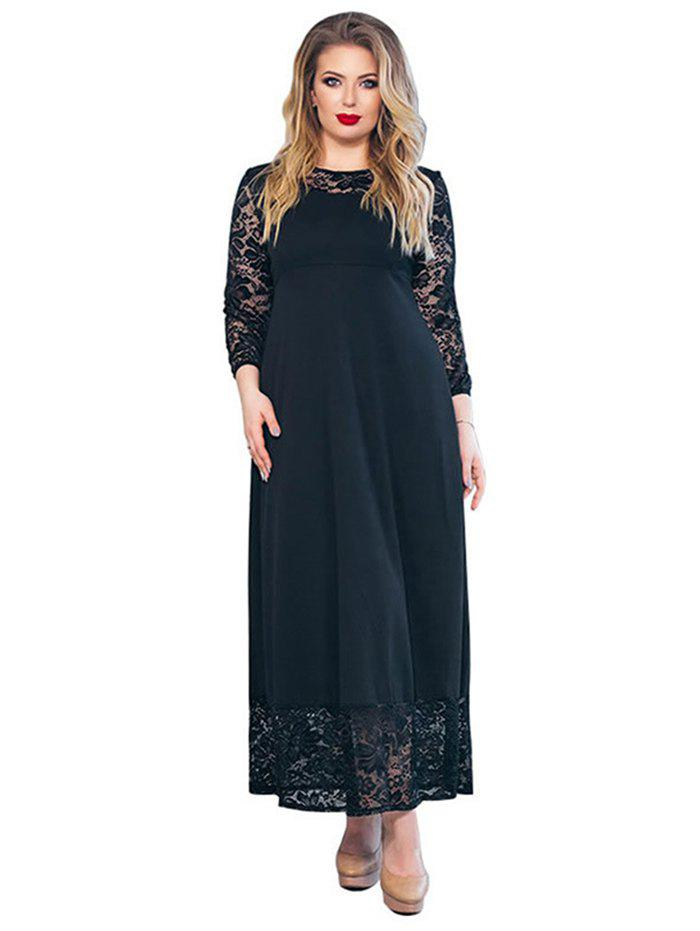 Unique Women Fashionable Matching Solid Lace Sexy Dress