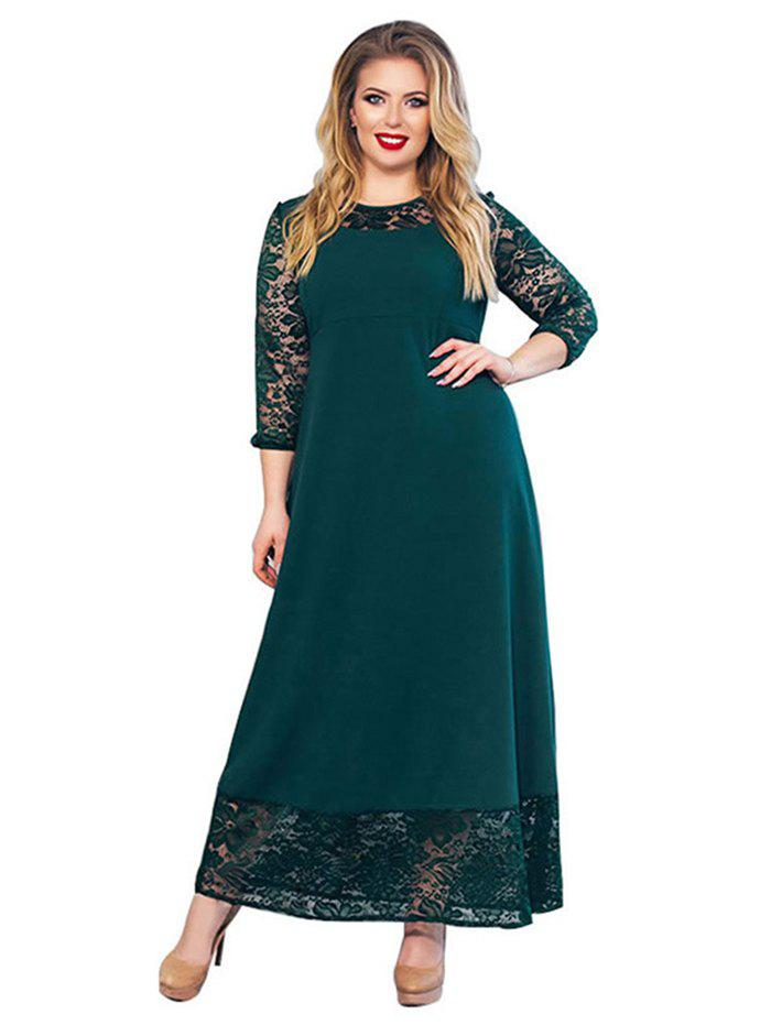 Trendy Women Fashionable Matching Solid Lace Sexy Dress