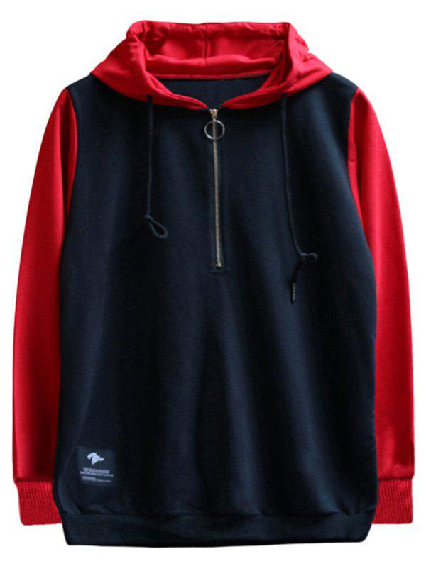 Shops chaolongjushang GH - 8823 Spring Hooded Colorblock Hoodies