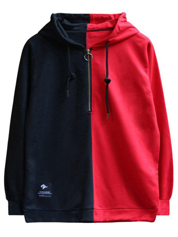 Affordable Chaolongjushang GH - 8822 Men Spring Color Matching Hooded Hoodie