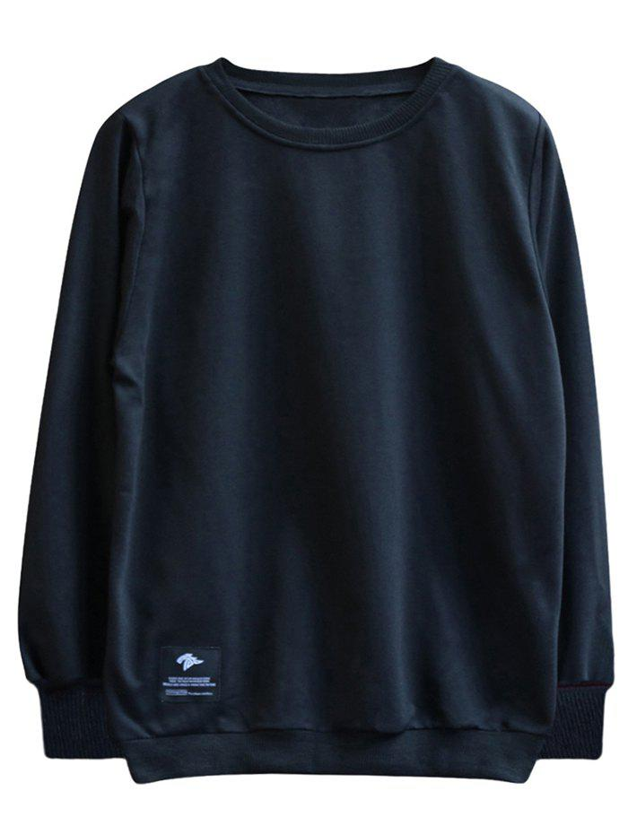 Latest chaolongjushang GH - 8819 Spring Round Neck Solid Color Sweatshirts