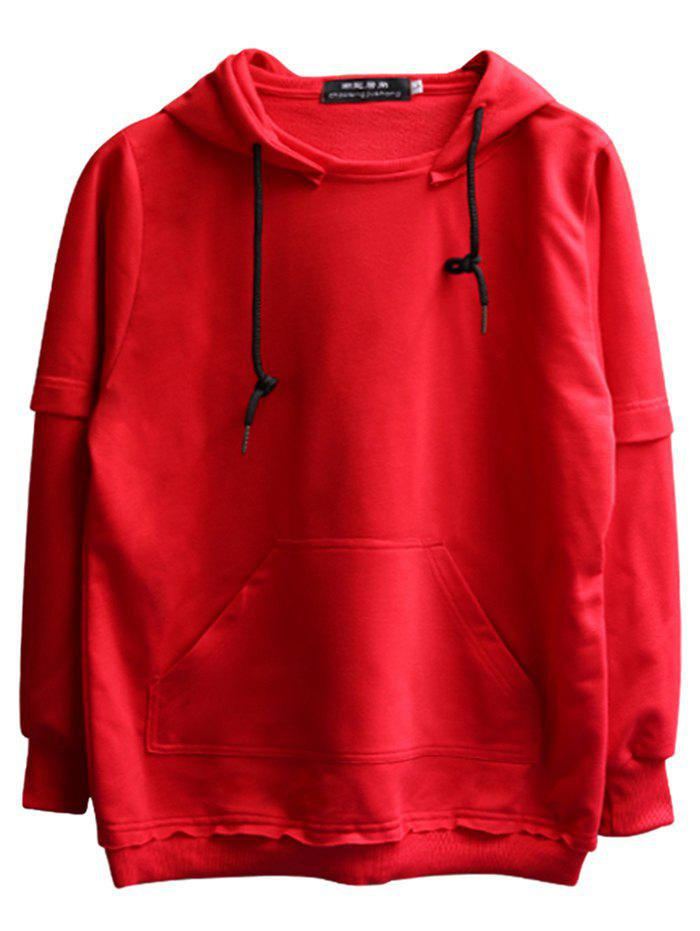 Shop chaolongjushang GH - 8819 Spring Hooded Solid Color Hoodies